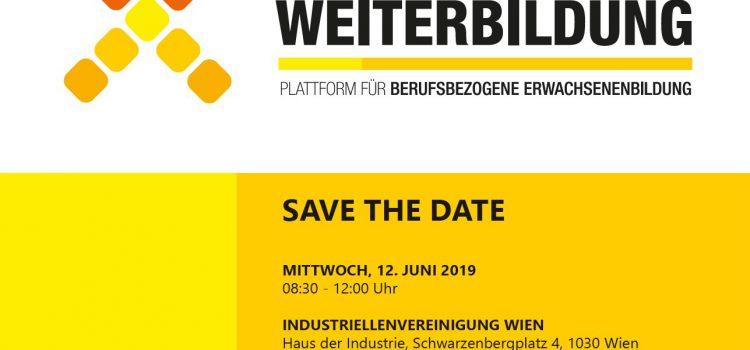 Save the date! TAG DER WEITERBILDUNG 2019