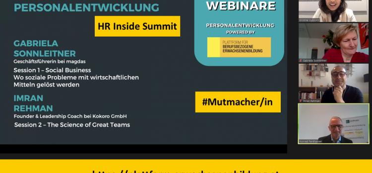 """Nachlese HR Inside Summit 2020: Webinar """"Personalentwicklung 2"""""""