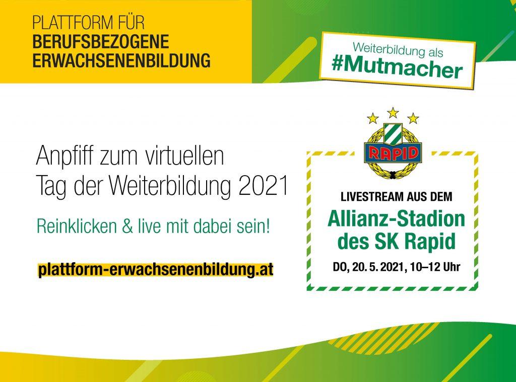 Tag der Weiterbildung 2021: Weiterbildung als #Mutmacher